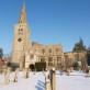Buckden parish church in snow, February 2012 (1)