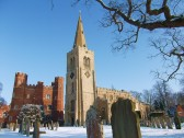 A view of St. Mary's parish church, Buckden, in the snow, February 2012 (4).