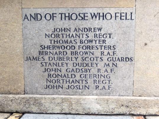 Buckden War Memorial after cleaning (3a)