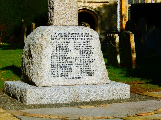 Buckden War Memorial after cleaning (1)