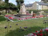 Flowers around St Neots War Memorial - July 2014