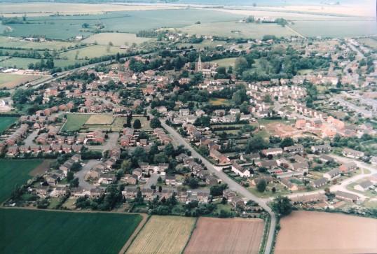 Buckden - Aerial view 1988