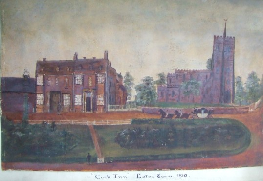 Cock Inn, Eaton Socon in 1810