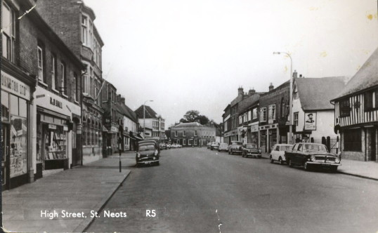 High Street, St. Neots in the 1960s