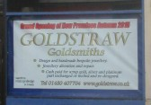 Goldstraws Jewellers will be moving in the autumn says a sign in February 2015