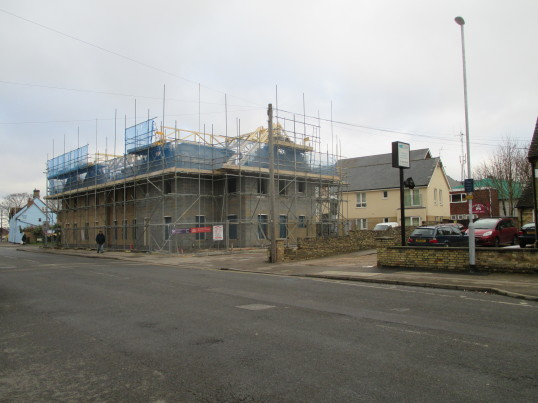 New housing being built on the former Marshalls garage site in Huntingdon Street - 4th Feb 2015