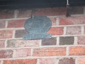 Fire Insurance plaque on the wall of the former Three Horseshoes Pub in Staploe - March 2015