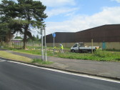 Aldi site in Eaton Socon - fencing is about to appear around the site - 9th June 2015