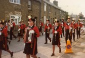 St Neots Carnival - a band marching through the street