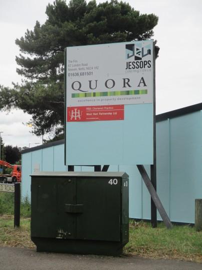 Board at the Aldi site in Eaton Socon - 17th July 2015