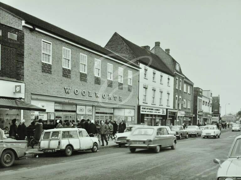 Shops In St Neots High Street And The Market Square Date