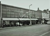 Shops in St Neots High Street and the Market Square - date possibly 1960s