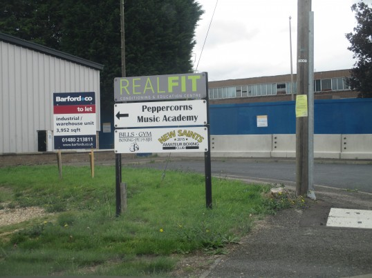 Signs for Real Fit Gym, Peppercorns Music Academy and the New Saints Boxing Club - 25th August 2015