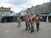 Napoleonic Soldiers at St Neots Regency Festival on the Market Square - July 25th and 26th  2015