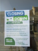 The Wood Green Charity Shop in St Neots High Street has just closed - 30th June 2015