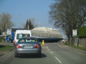 A very large boat in Eaton Ford - 7th April 2015