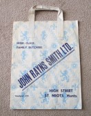 John Rayns Smith Butchers paper carrier bag