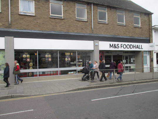 M&S Foodhall in St Neots High Street - 27th November 2015