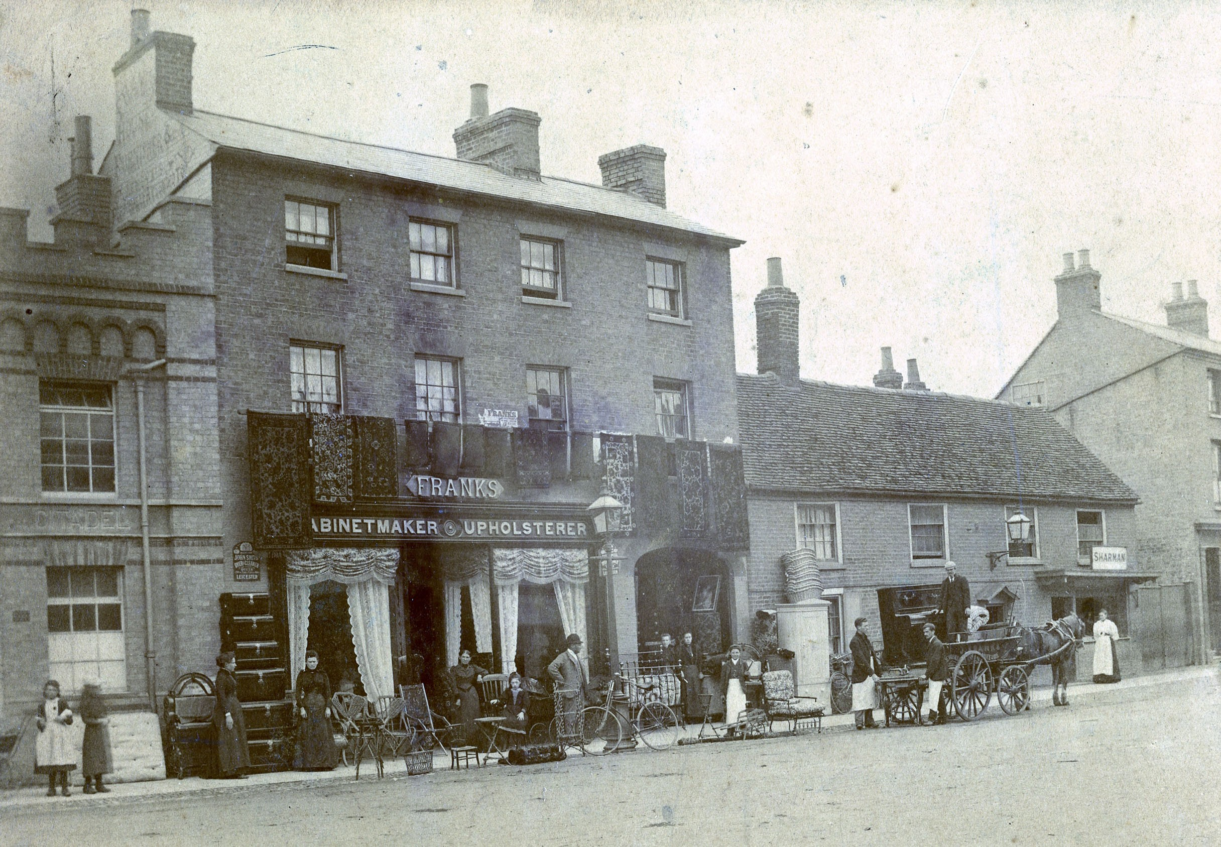 Franks Furniture Shop in 1900 in St Neots High Street High