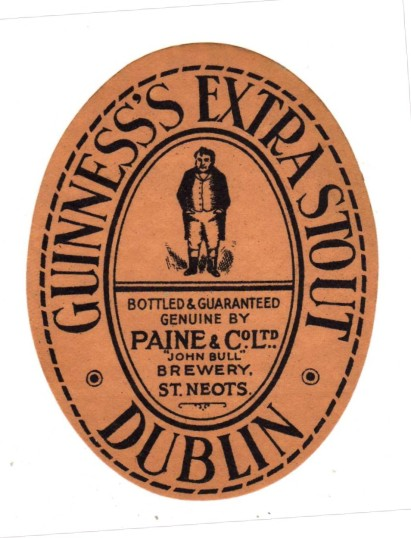 Paine and Co Ltd Guinness's Extra Stout label - date unknown