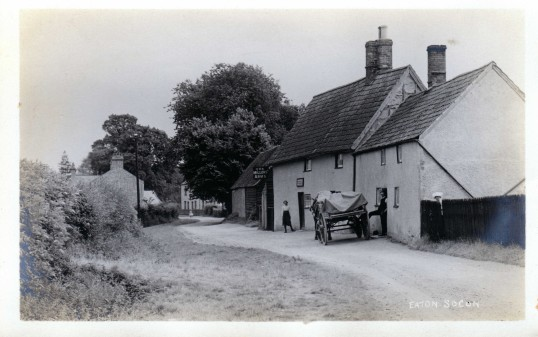 Ackerman Street, Eaton Socon, in the 1920s showing the Millers Arms