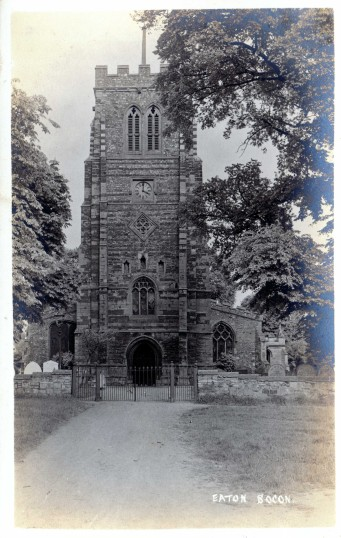 Eaton Socon Church - view towards the tower - possibly 1910s