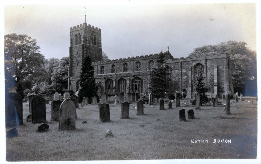 Eaton Socon Church and churchyard - view from the south east - date possibly 1910s