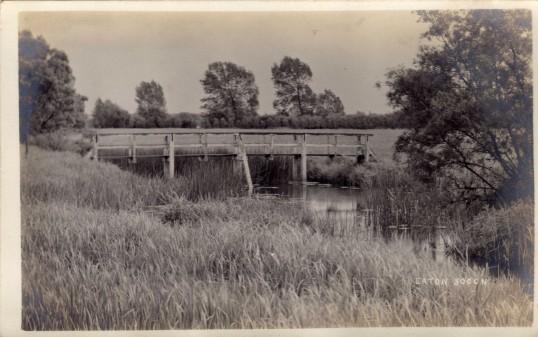 White Traps Bridge across the stream near Eaton Socon River Mill - date unknown