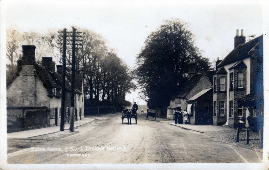 Great North Road, Eaton Socon, near The Sun - possibly around 1920