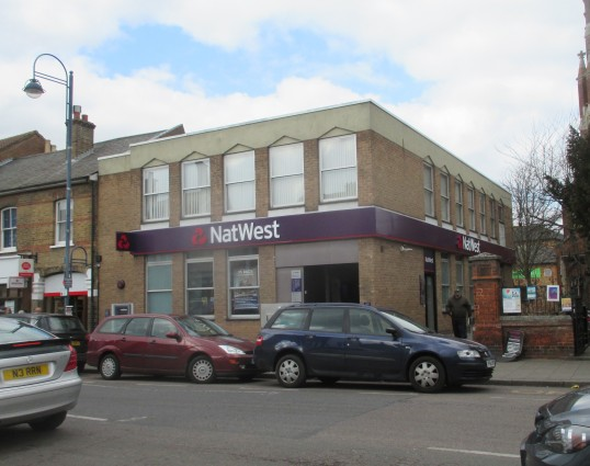 Nat West Bank in St Neots High Street - March 2016