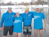 River Great Ouse winter swimmers