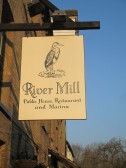 River Mill, Eaton Socon new pub sign - 17th March 2016
