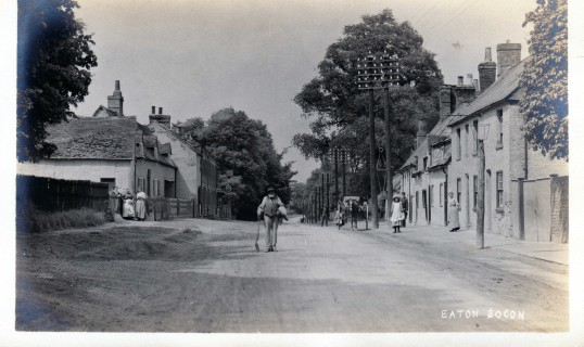 White Lion Row and other houses nearby, in Eaton Socon - 1920s possibly