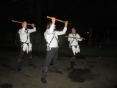 Granta Blue Morris Dancers at Eaton Socon Plough Monday - 11th Jan 2016