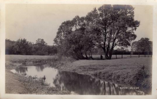 Stream near the White Traps Bridge in Eaton Socon - date unknown