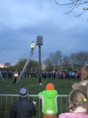 Lighting the beacon in Regatta Meadow on the Queens 90th birthday 2016