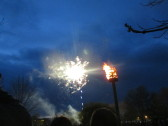 Fireworks in Regatta Meadow for the Queens 90th birthday on 21st April 2016
