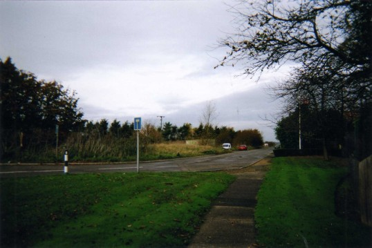 Great North Road outside Crosshall Manor - December 2007