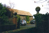 The barn at Crosshall Manor (December 2007) - before being converted into a house