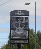 Crown Public House, Eaton Socon, - new signage - 2016