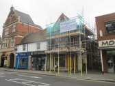 The former Handyman shop in St Neots High Street is getting some much needed renovations - 7th September 2016