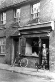Mr Stocker's Butchers Shop in St Marys Street, Eynesbury - date unknown
