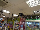 A large black spider for Halloween seen in Tesco's petrol station - 12th Oct 2016