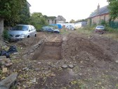 Excavations on the former Motors place in Brook Street next to St Marys Church, St Neots - 20th Oct 2016