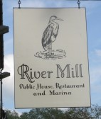 River Mill sign, Eaton Socon - 26th May 2016