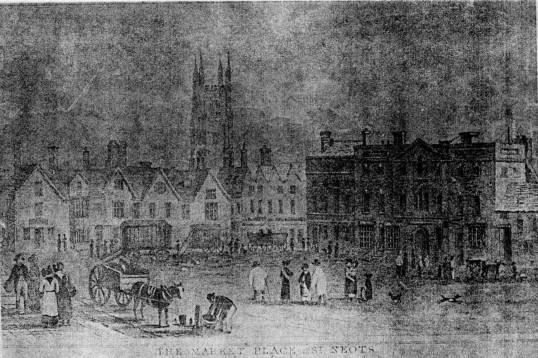 Market Square, St Neots - around 1800