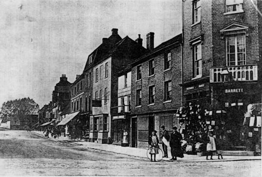 Market Square - north side from Barretts Corner - 1900
