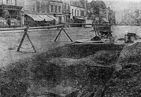 Market Square , an archaeological dig possible - 1900