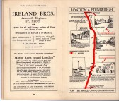 Ireland Bros, St Neots advert - in the 'On the Road Dunlop Pictorial Road Plans Book, 1926