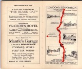 Black Cat Restaurant advert - in the 'On the Road Dunlop Pictorial Road Plans Book, 1926